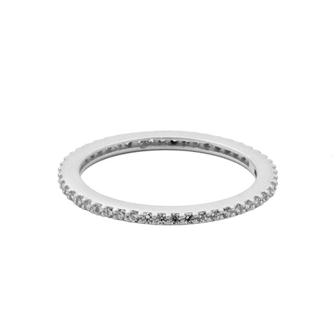 All Pavé Stack Ring