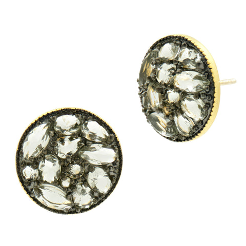 Rose D'or Rosecut Disc Stud Earrings - FREIDA ROTHMAN