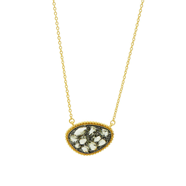 Rose D'or Textured Pebbled Pendant