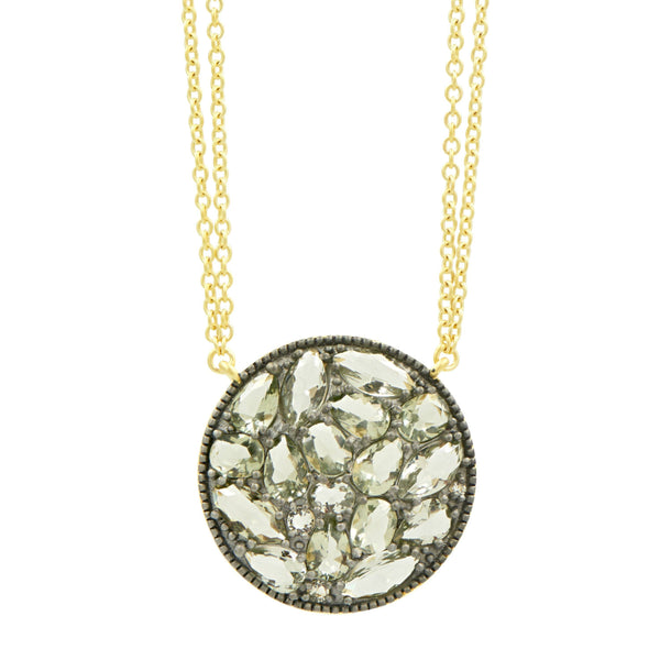 Rose D'or Rosecut Disc Pendant