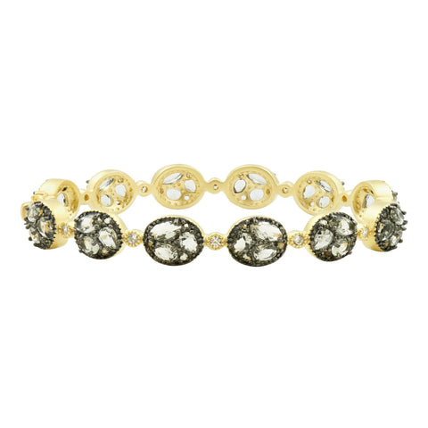 Rose D'or Rosecut Station Hinge Bangle - FREIDA ROTHMAN