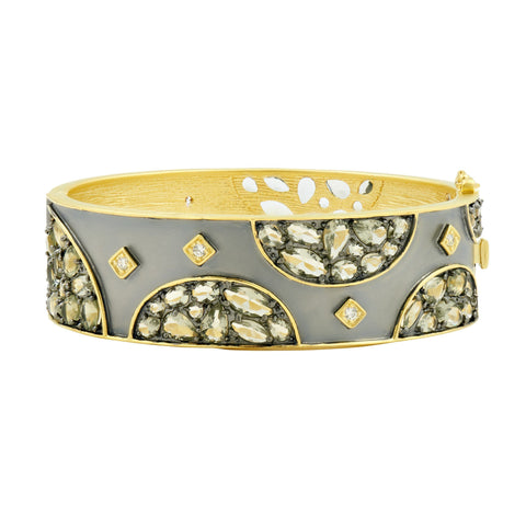 Rose D'or Wide Hinge Bangle - FREIDA ROTHMAN