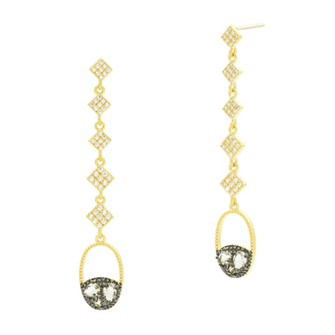 Rose D'or Long Drop Earrings - FREIDA ROTHMAN