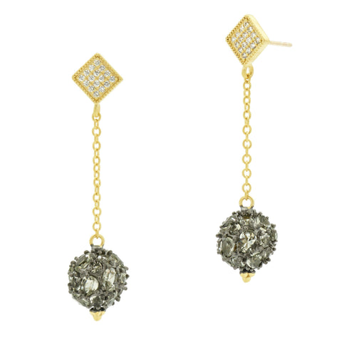 Rose D'or Rosecut Ball Drop Earrings - FREIDA ROTHMAN