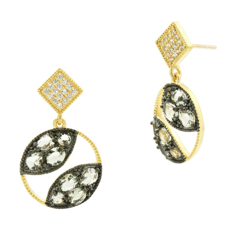 Rose D'or Open Drop Earrings - FREIDA ROTHMAN