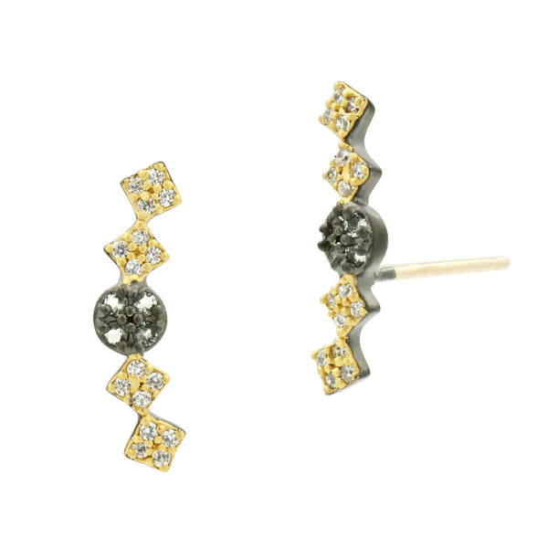 Rose D'or Stud Earrings - FREIDA ROTHMAN