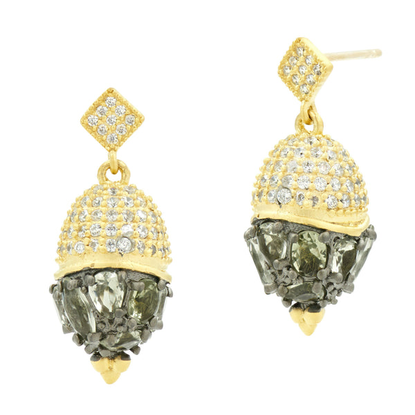 Rose D'or Small Pendant Drop Earrings - FREIDA ROTHMAN