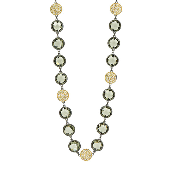 Rose D'or Brilliance Long Strand Necklace - FREIDA ROTHMAN
