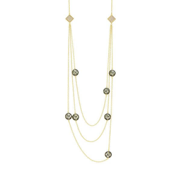 Rose D'or Charm Necklace - FREIDA ROTHMAN
