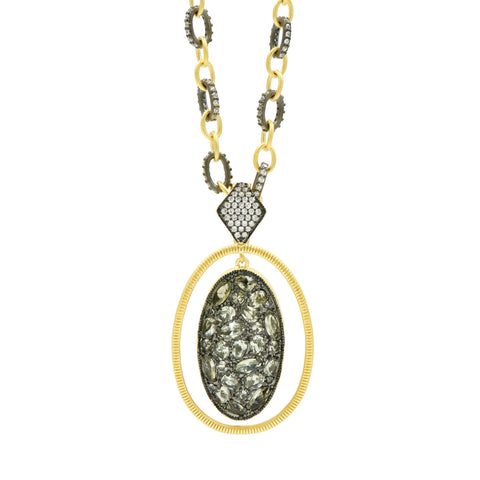 Rose D'or Orbit Pendant Necklace - FREIDA ROTHMAN