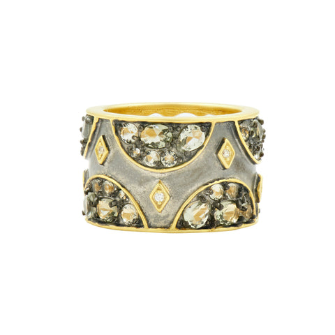 Rose D'or Wide Band Ring - FREIDA ROTHMAN