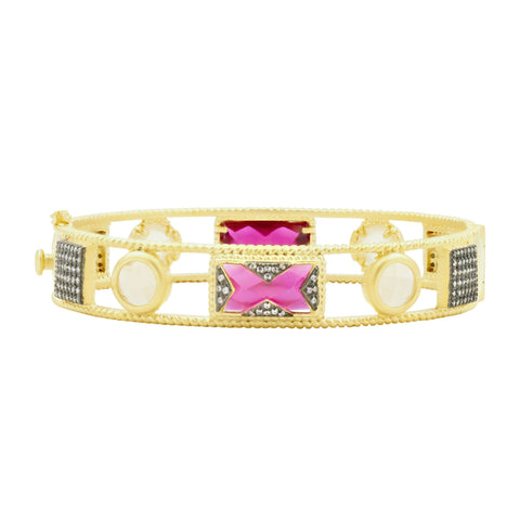 Rouge Open Hinge Bangle - FREIDA ROTHMAN
