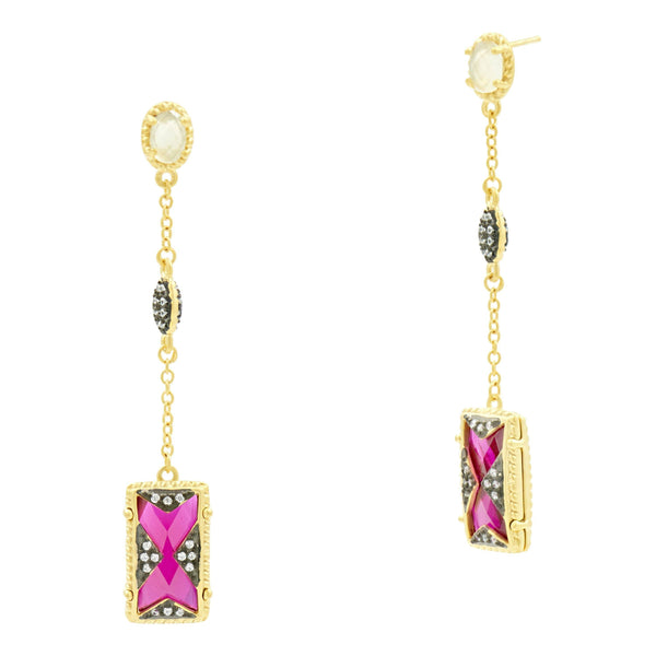 Rouge Linear Drop Earring - FREIDA ROTHMAN