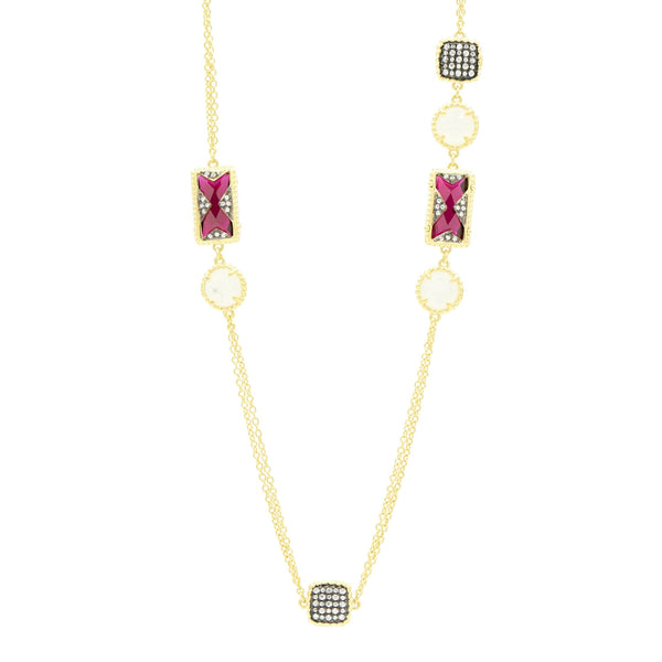 Rouge Station Necklace
