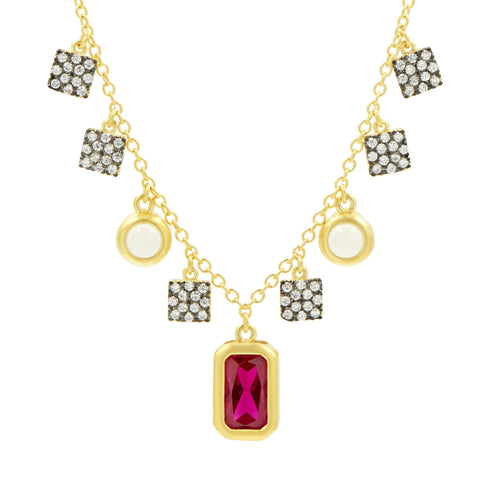 Rouge Charm Necklace - FREIDA ROTHMAN