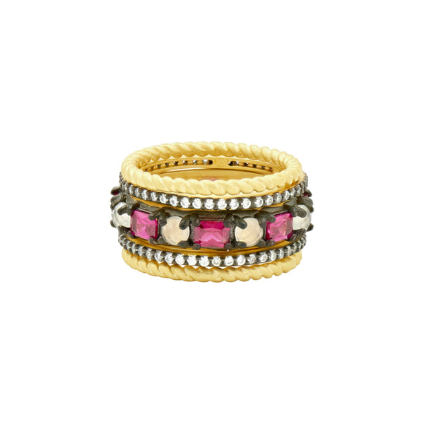 Rouge 5-Stack Ring