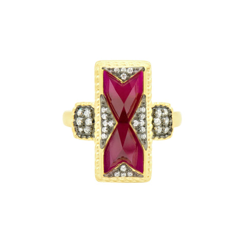 Rouge Cocktail Ring - FREIDA ROTHMAN