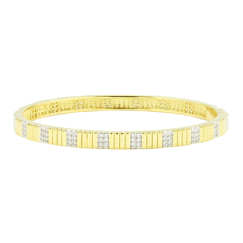 Sleek Pavé Hinge Bangle