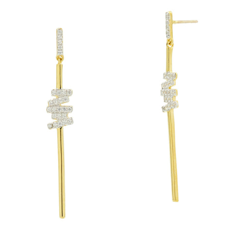 Radiance Delicate Linear Drop Earrings - FREIDA ROTHMAN