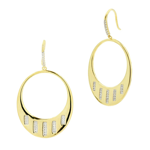 Radiance Drop Hoop Earrings - FREIDA ROTHMAN