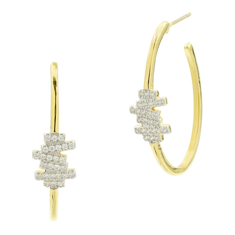 Radiance Delicate Hoop Earrings - FREIDA ROTHMAN