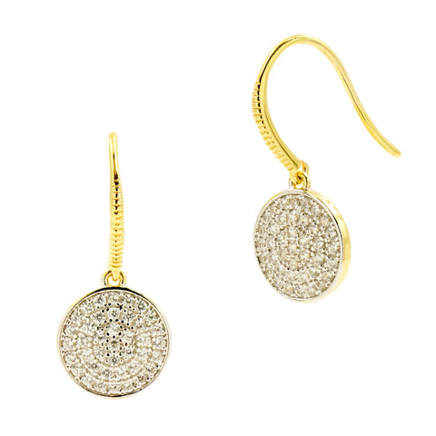 Radiance Pavé Disc Hook Earring