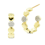 Radiance Pavé Station Hoop Earring