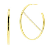 Strike-Through Hoop Earring