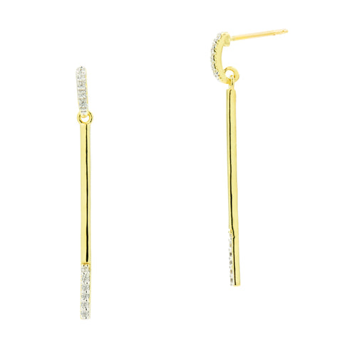 Pavé Bar Drop Earring