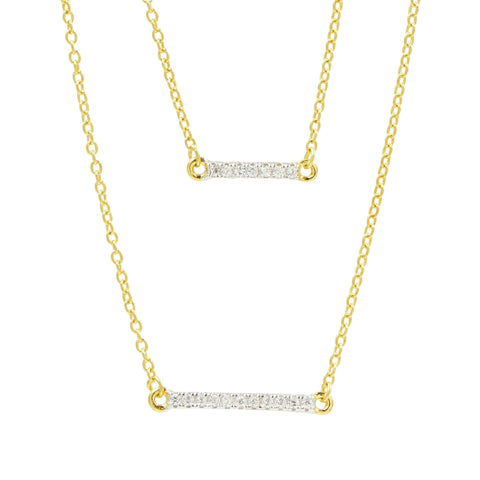 Radiance Double Pendant Necklace - FREIDA ROTHMAN