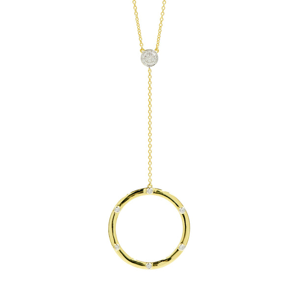 Radiance Open Hoop Y-Neck Necklace