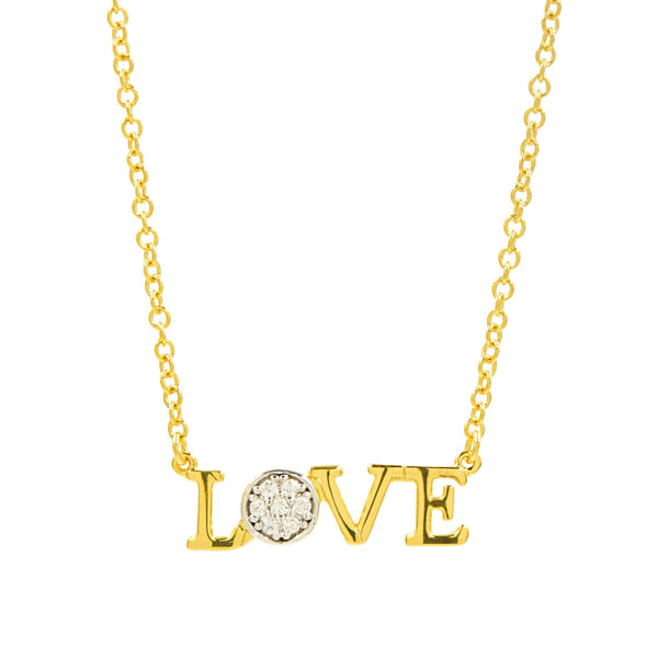 """LOVE"" Horizontal Necklace"