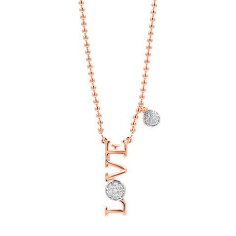 """LOVE"" Vertical Necklace"