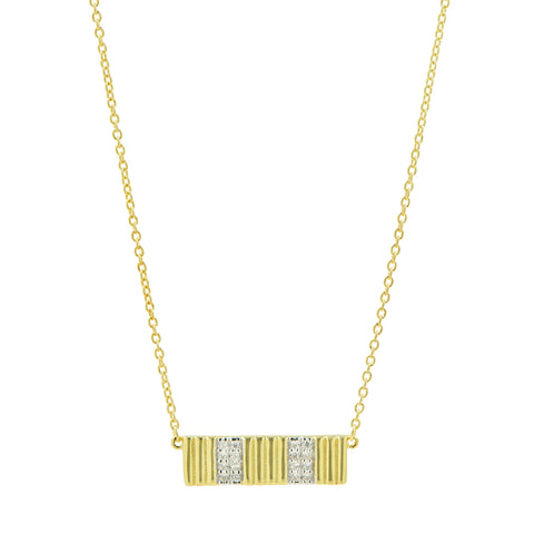 Sleek Pavé Pendant Necklace