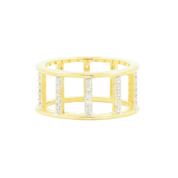 Radiance Open Wide Band Gold Ring - FREIDA ROTHMAN