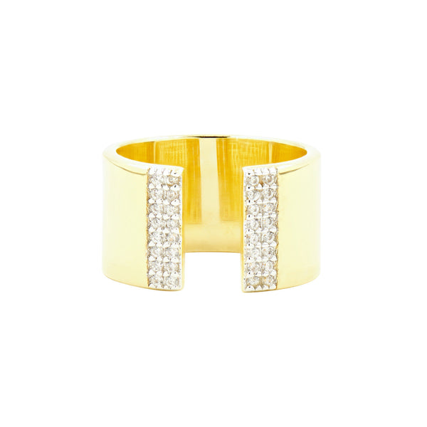 Radiance Open Cuff Gold Ring - FREIDA ROTHMAN