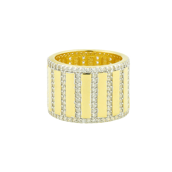 Rectangular Pavé Cigar Band Ring