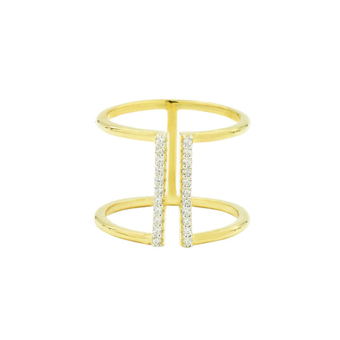 Pavé Open Cuff Ring