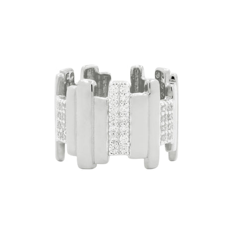 Radiance Wide Band Silver Ring - FREIDA ROTHMAN