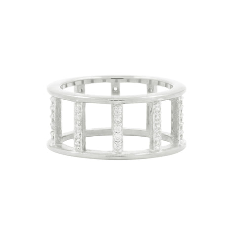 Radiance Open Wide Band Silver Ring - FREIDA ROTHMAN