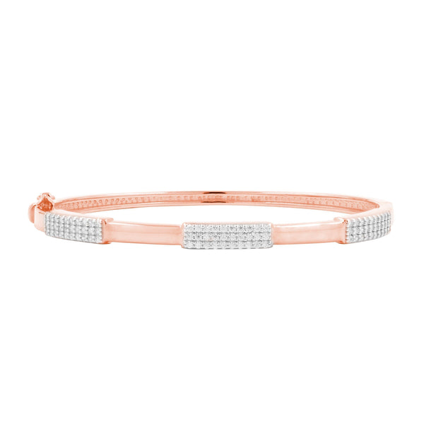 Radiance Thin Hinge Bangle in Rose Gold