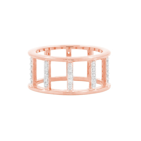 Radiance Open Wide Band Rose Gold Ring - FREIDA ROTHMAN