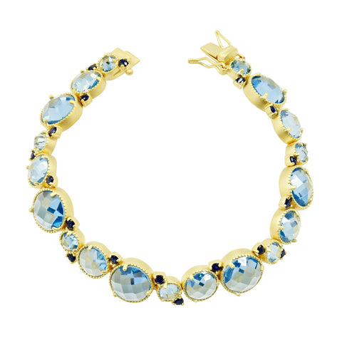Soft bracelet with blue stone circular image