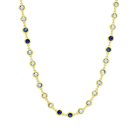 Imperial Blue Long Strand Necklace