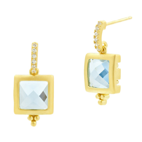 Ocean Azure Drop Earrings - FREIDA ROTHMAN
