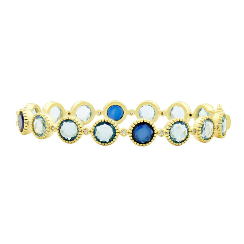 Station hinge bangle - imperial blue