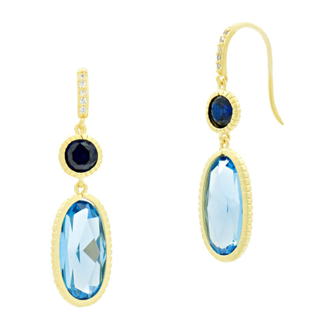 Imperial Blue Drop Earrings