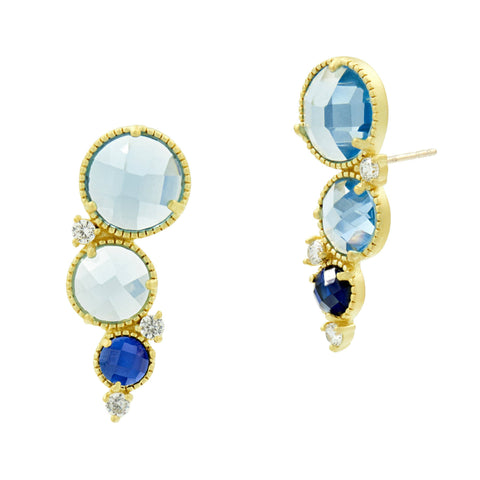 Imperial Blue Climber Earrings