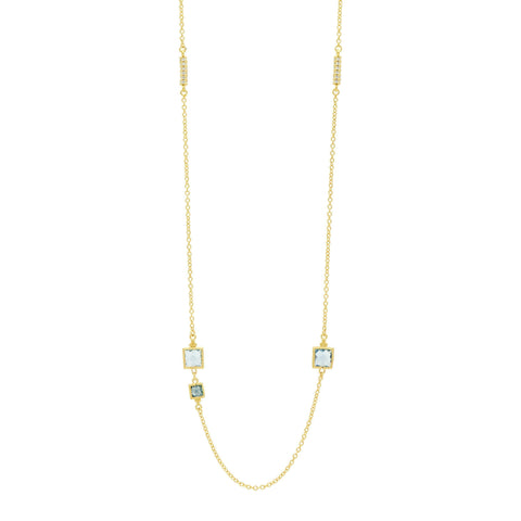 "Ocean Azure 36"" Station Necklace - FREIDA ROTHMAN"