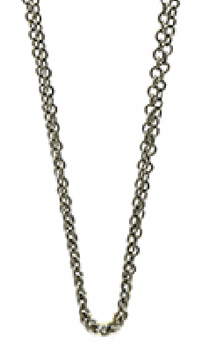 Double strand Black Chain 27""